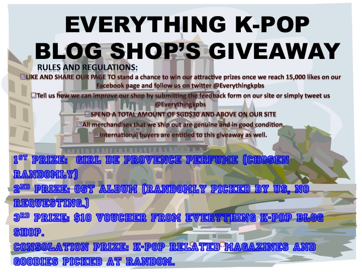 EVERYTHING K-POP BLOG SHOP'S GIVEAWAY