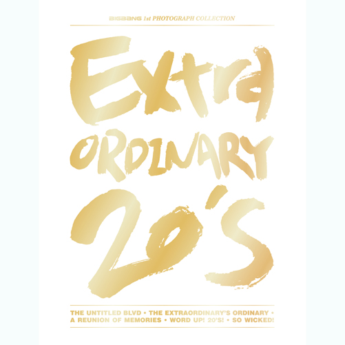 PRE-ORDER BIG BANG'S 1ST PHOTOGRAPH COLLECTION EXTRAORDINARY 20'S(REPACKAGED)